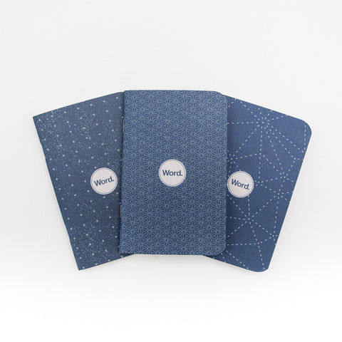 Word. Notebooks (Indigo) - 3 Pack
