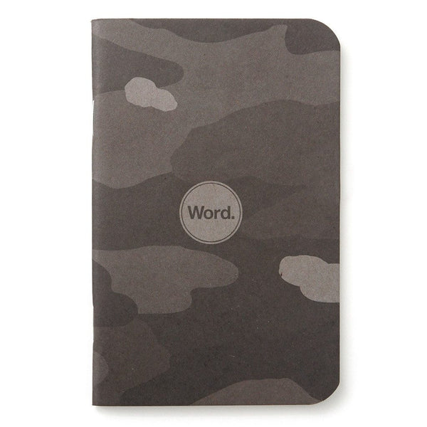 Notebook - Word. Notebooks (Stealth Camo) - 3 Pack