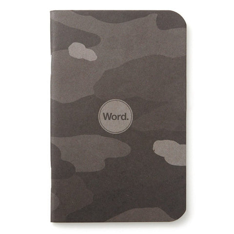 Word. Notebooks (Stealth Camo) - 3 Pack