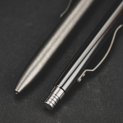 Pen - Pre-Owned: Tuffwriter Retro-Click Executive Pen - Titanium