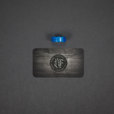 Tool Accessory - Pre-Owned: Barrel Flashlight Co. Ring - Blue Kirinite