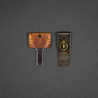Wallet - Black Label Creation Money Clip - Brass