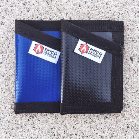 Recycled Firefighter Sergeant Slim Wallet (Tarp)