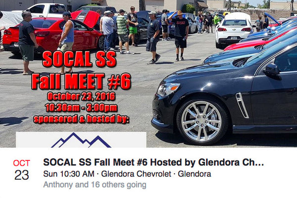 In Southern California? Own an Chevy SS Sedan? This is the place to be on Oct 23rd, 2016!