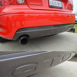 GTO Carbon Fiber Rear Exhaust Insert w/GTO - DEPOSIT ONLY