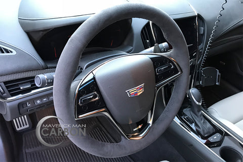 Genuine Cadillac ATS-V 2015-2018 Jet Black Suede Steering Wheel