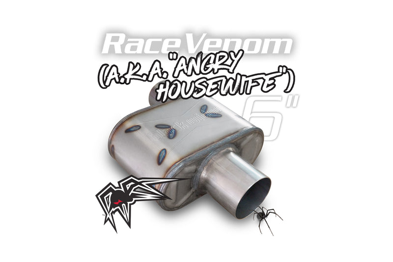 "Black Widow Race Venom ""Angry Housewife"" Muffler"