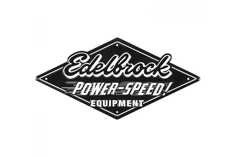 Edelbrock Power Speed Garage Tin Sign