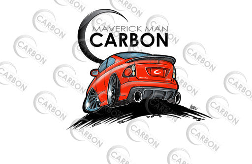 Maverick Man Carbon CarToon Pontiac GTO Stickers
