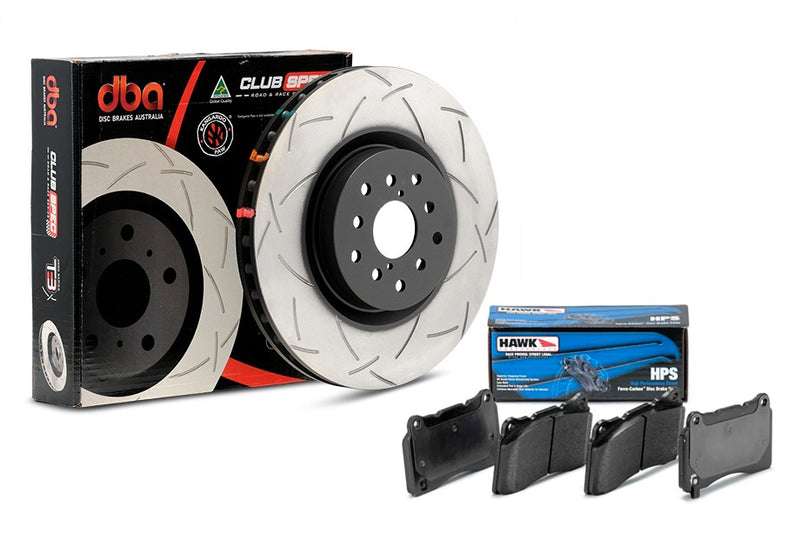Pontiac G8 SPECIAL DBA T3 4000 Series Uni-Directional Slotted Rotor w/ Hawk Pad Combo