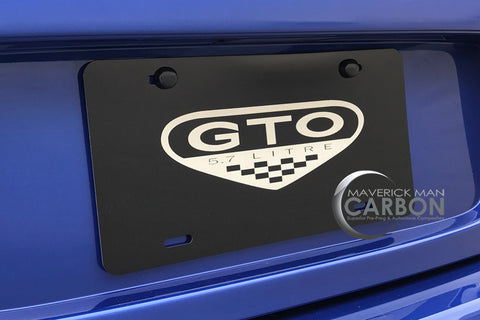 "Pontiac ""GTO""  Aluminum Laser Engraved Display License Plate"