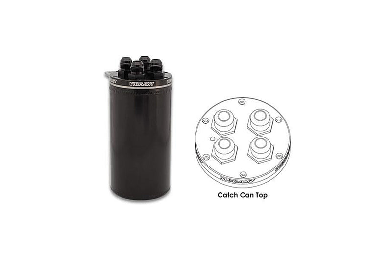 Vibrant Universal Catch Can - Anodized Black