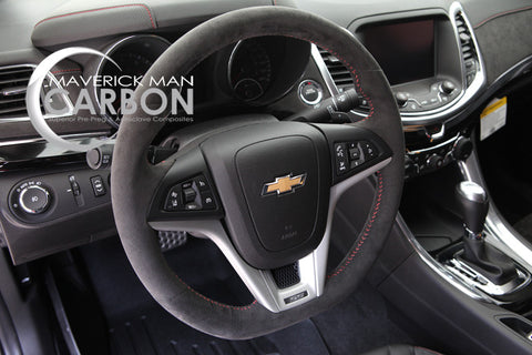 ZL1 Suede Steering Wheel with Red Stitching