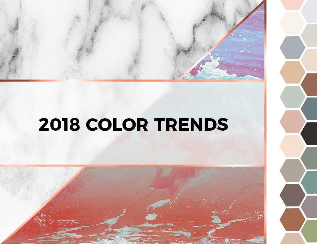2018 Color Trends - swatches and textures