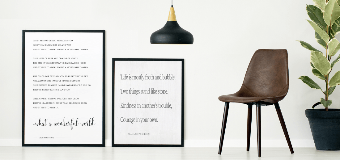 what a wonderful world lyrics custom print and a favorite book quote turned into a custom wallart