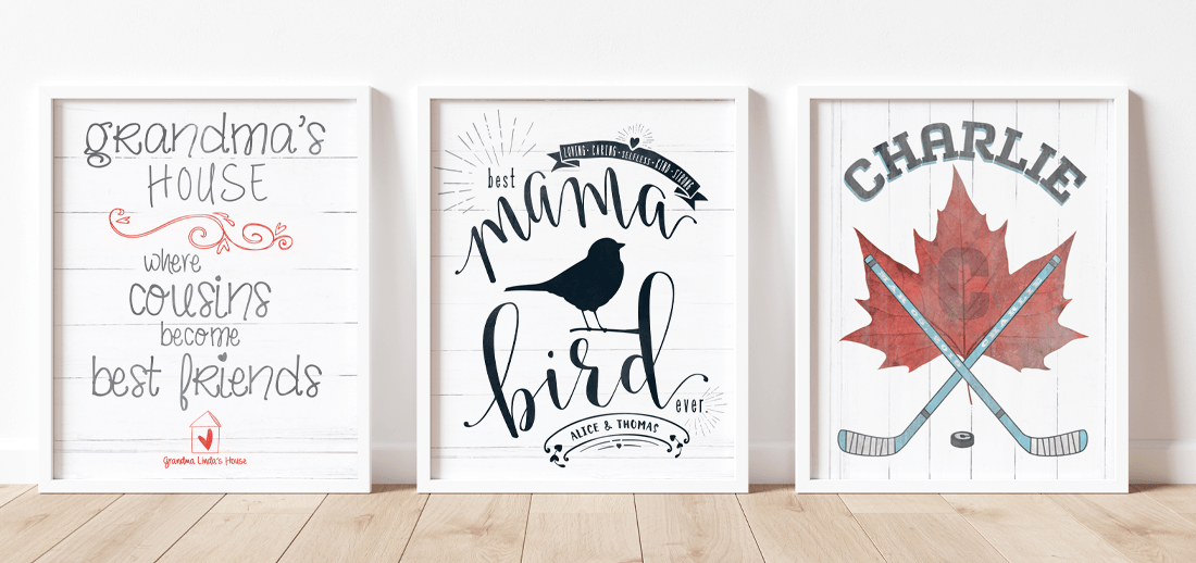 Mama Bird custom print, Grandma's House, hockey themed custom print