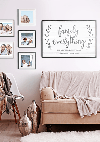 Family Is Everything Personalized Print in a beautiful gallery wall
