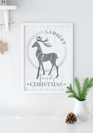 Family Christmas Personalized Print