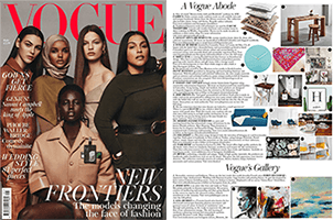 Featured in the May 2018 issue of Vogue magazine