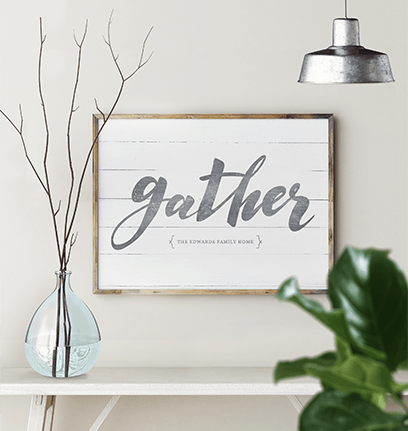 Gather personalized print