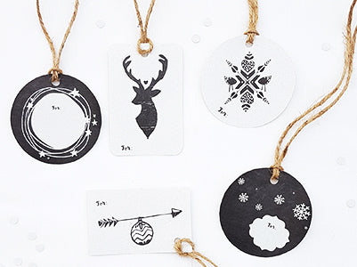 Beautiful holiday gift tags - just print, cut, punch a hole and add twine!