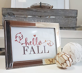 Fall vignette with Hello Fall free printable card