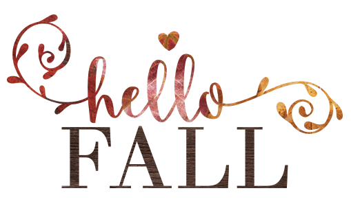 close up of the art on Hello Fall free printable
