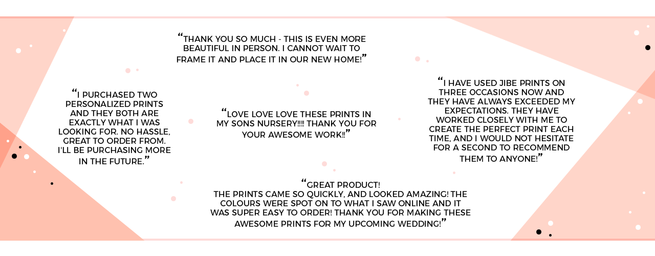 Verified reviews of Jibe Prints' customers