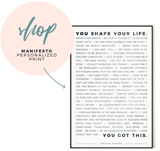 Shop Manifesto Personalized Print