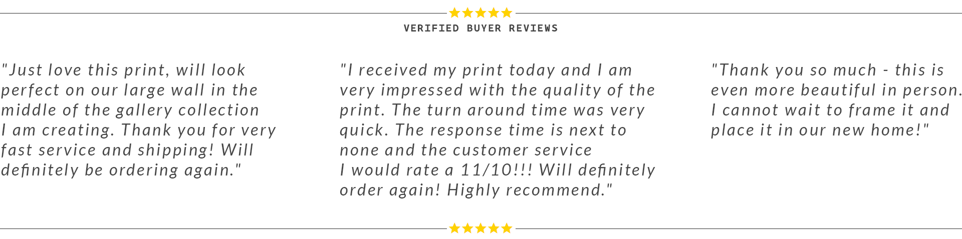 Jibe Prints Verified Buyer Reviews