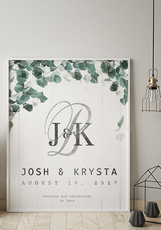 Totally & Absolutely personalized wedding print