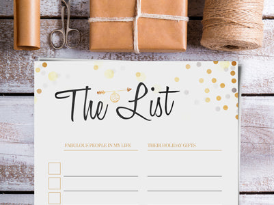 Christmas Gift List FREE Printable - Download, print and start planning!