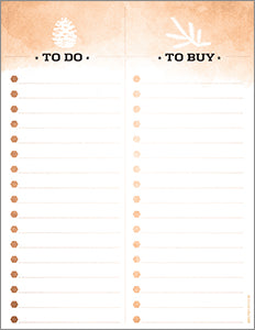 Holiday To Do and To Buy List - Free Printable Available For Download Now!