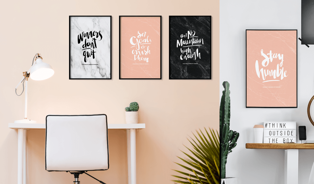 Blush and Marble personalized prints *New for 2018* from the Words Of Wisdom Collection