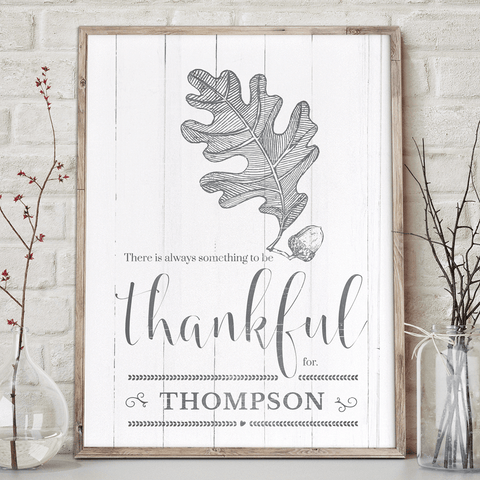 Always Thankful personalized print