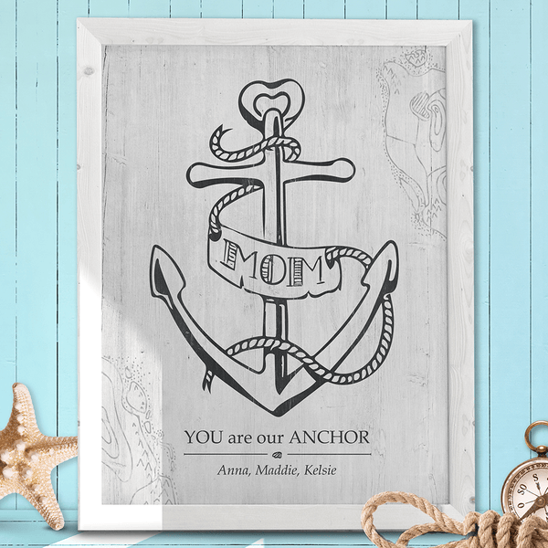 Mom You Are Our Anchor personalized print