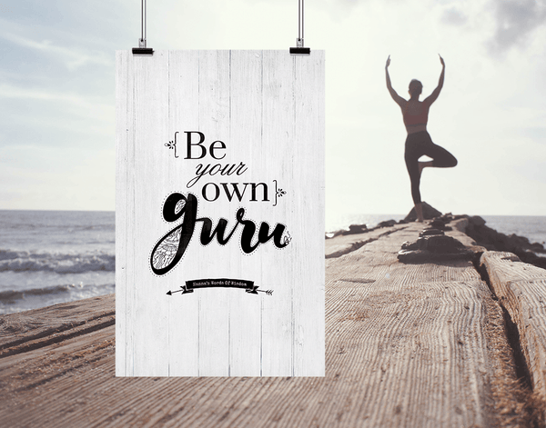 Lifestyle image of Be Your Own Guru personalized print