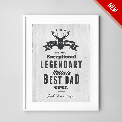 Best Dad Ever Personalized Print