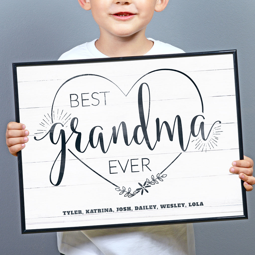 Best Grandma Ever personalized print