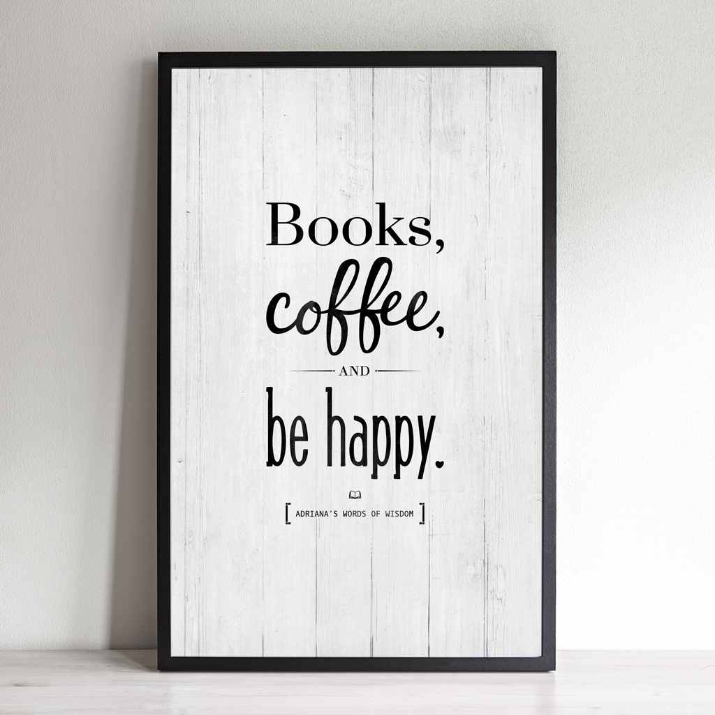 Books, Coffee Personalized Print