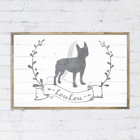 Boston Terrier personalized print