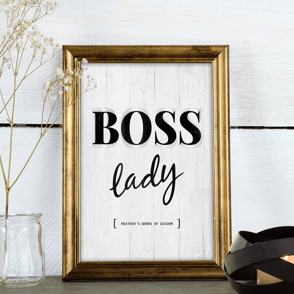 Boss Lady Personalized Print