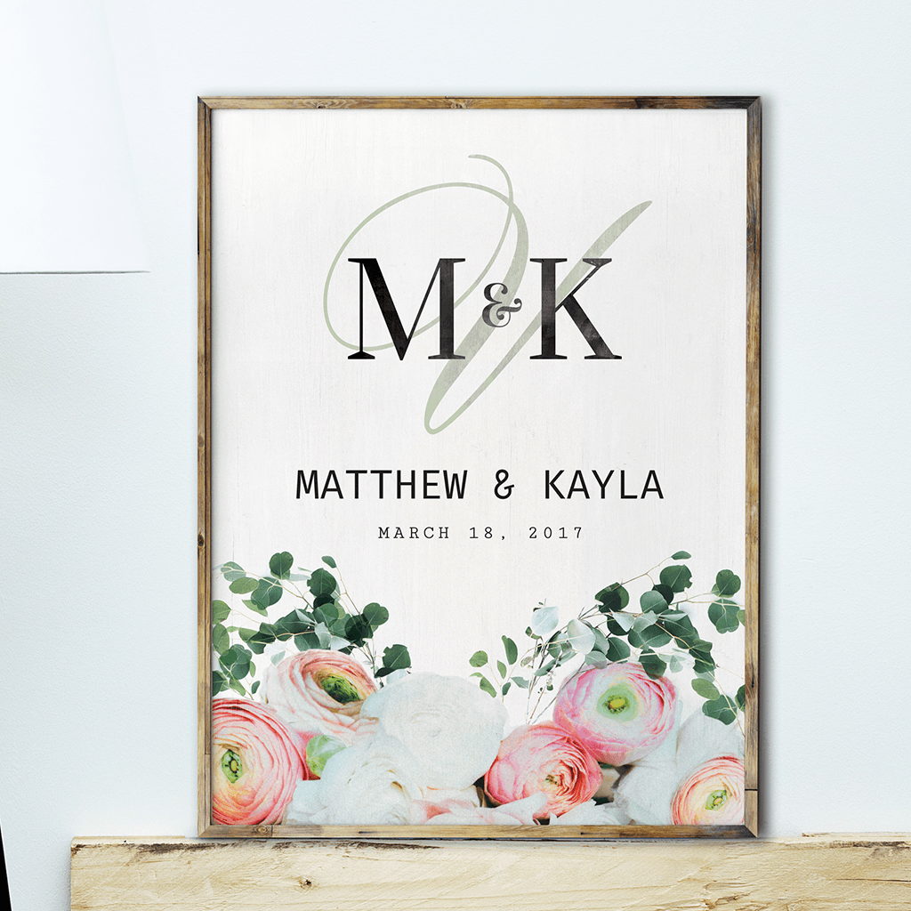 Bouquet Personalized Print - a Wedding Collection print