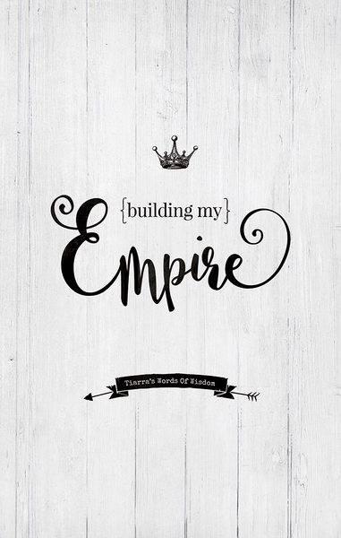 close up preview of the Building My Empire personalized print
