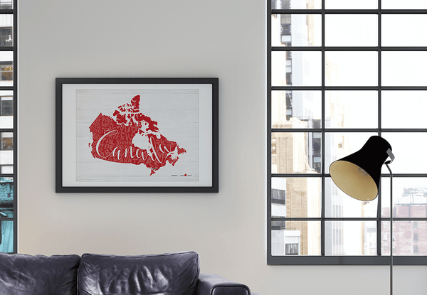 Any Place Canada - a personalized print, special edition for Canada's 150th birthday - in a stylish Toronto loft