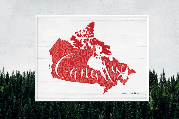Any Place Canada personalized print - special edition for 150 years celebration.