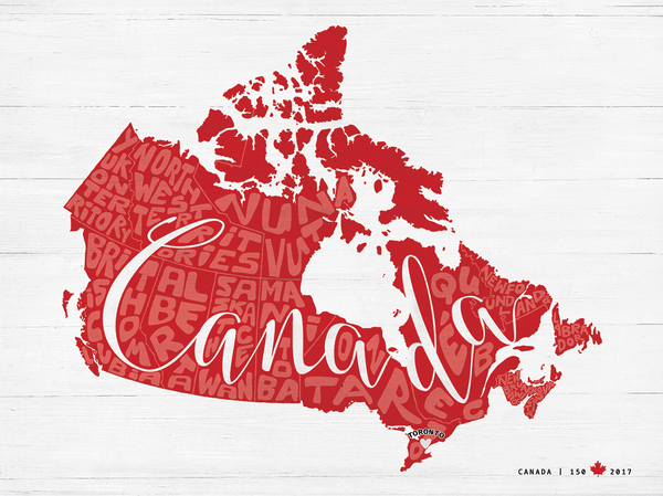 Canada 150 special edition - Any Place Canada personalized print