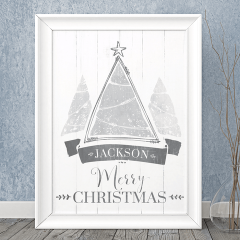 Christmas Tree personalized print