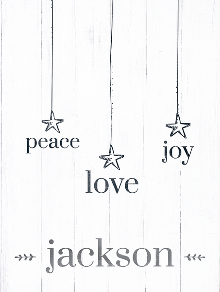 preview of the Christmas Words personalized print