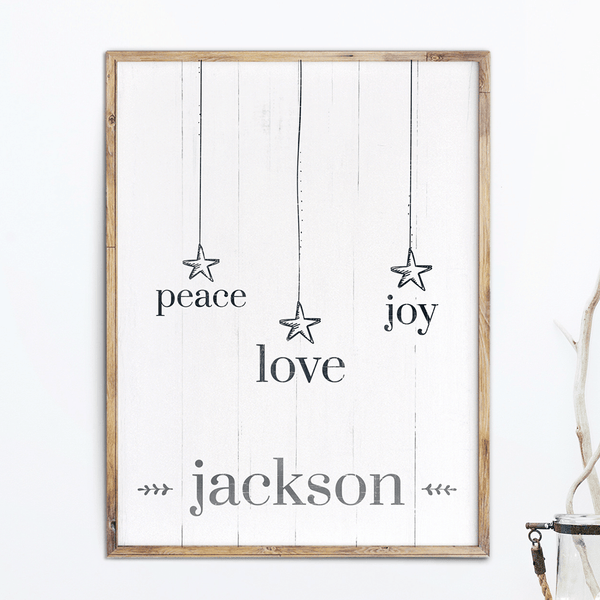 Christmas Words personalized print